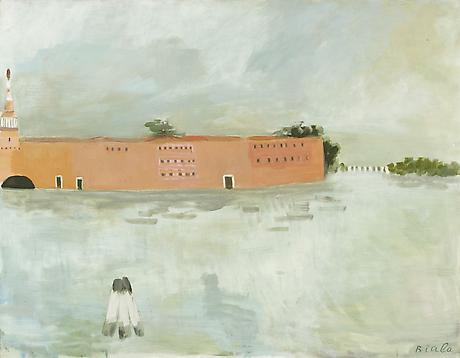 Biala, Untitled (Lagune et la Douane), c. 1981, oil on canvas, 45 x 57 inches