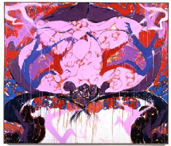 Norman Bluhm, Byzantine Angel, 1989, oil on canvas, 72 by 84 inches. Courtesy Norman Bluhm Estate.