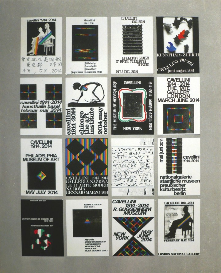 Guglielmo Achille Cavellini, 16 Posters for the Centenary. 1971. Courtesy Archivio Cavellini, Brescia.