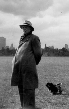 Max Beckmann in Central Park, 1950. Image copyright Max Beckmann Archive, Munich.