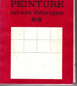 Cover of Peinture: Cahiers Theoriques 8/9, 1974, with work by James Bishop