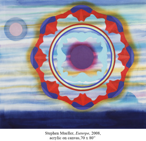 Stephen Mueller, Euterpe, 2008, acrylic on canvas, 70 by 80 inches. Courtesy Lennon, Weinberg, New York and the Estate of Stephen Mueller.