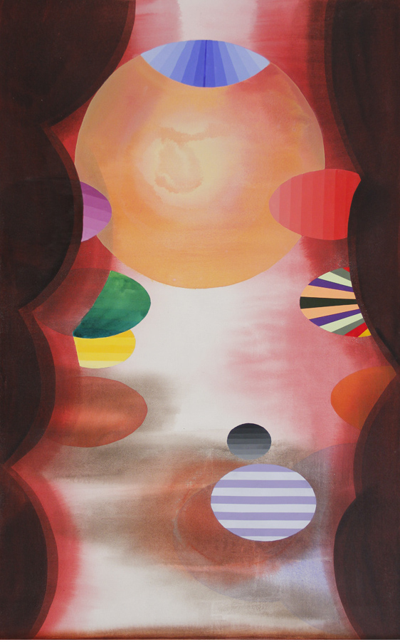 Stephen Mueller, Kabir, 2011, acrylic on canvas, 57 by 36 inches. Courtesy Lennon, Weinberg and the Estate of Stephen Mueller.