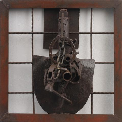 Melvin Edwards, Ginau Tabaski, 2006, welded steel. Courtesy Alexander Gray Associates.