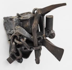 Melvin Edwards, Ogun Again, 1988, welded steel. Courtesy Alexander Gray Associates, New York.