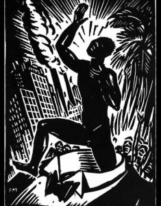 Frans Masereel, frontispiece to Pigments, 1937, woodcut.