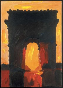Gérard Gasiorowski, Arc de' Triomphe, 1974, acrylic on wood. Galerie Maeght, Paris.